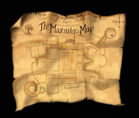 No 5 - The Marauder's Map (Harry Potter) This unique map not just charted