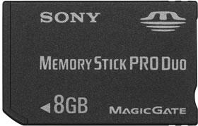 Sony presenta memory stick de 8GB  actualidad