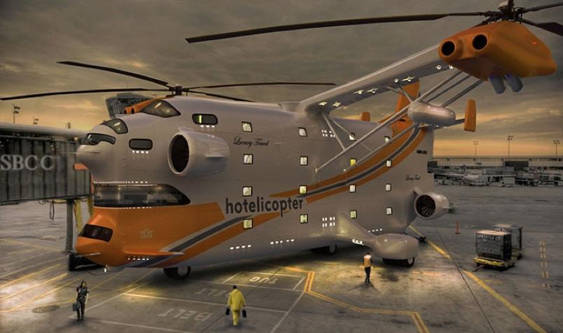 El primer hotel en el aire Hotelicopter