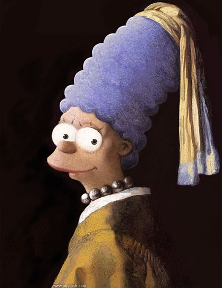 Marge oil painting