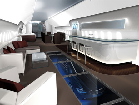 Luxury Design Interior for Airplane-an ultra luxury