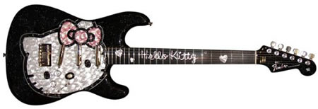 Hello Kitty Limited Edition Fender Guitar for sale at record price :  limited edition newlaunches fender guitar mitsukoshi