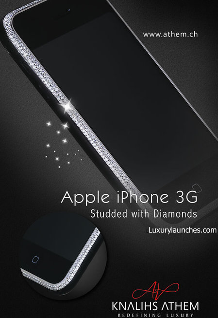 Diamond encrusted iPhone 3G designed by Knalihs Athem