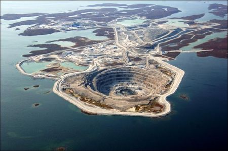 The Diavik Diamond Mine is in