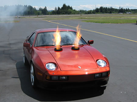 What do you get when you fit a Boeing turbine engine into a 1982 Porsche 928