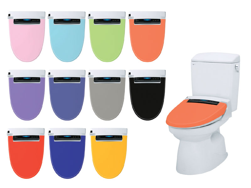 Inax Toilet Seat With Multi Colored Covers