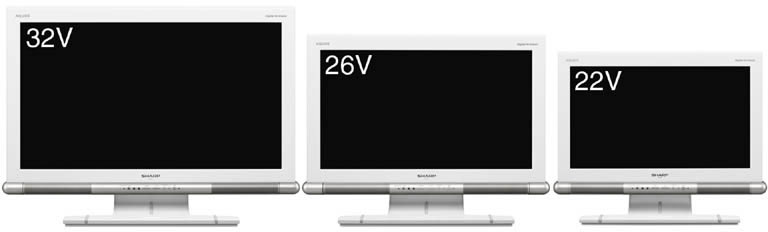 Sharp launches first 22″ and 26″ full HD LCD-TV's