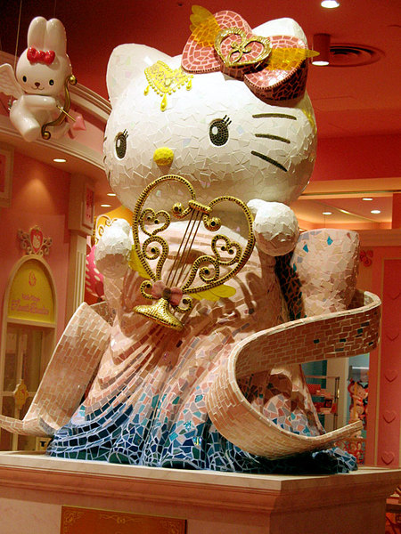 A Japanese Hello Kitty Statue in Tokyo
