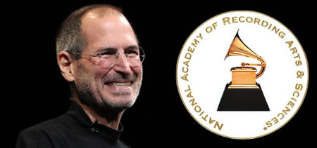 Steve Jobs thumb 450x211 Late Steve Jobs to be presented with Trustees Award for helping change the music industry