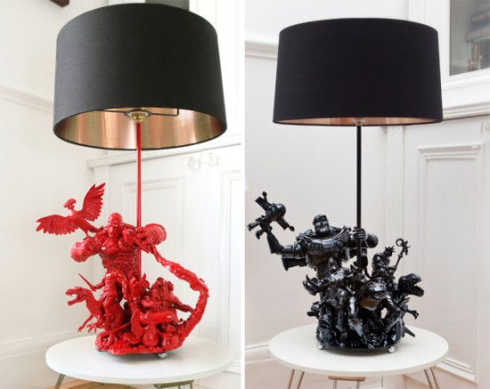 action figures immortalized in artsy lamp 1 550x437