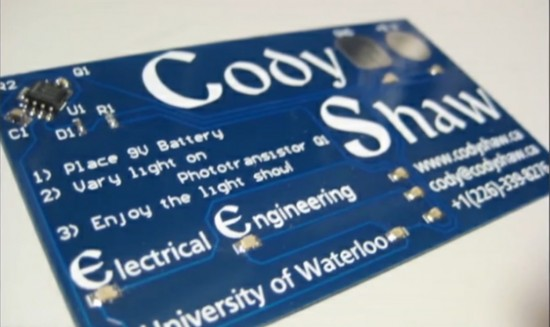 Electrical engineer cody shaw packs business card with leds and electrical engineer cody shaw packs business card with leds and circuit boards colourmoves