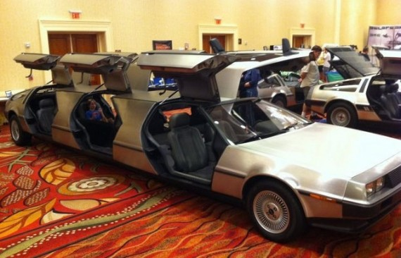 DeLorean limo packs six gull-wing doors; makes for the perfect geeky prom & DeLorean limo packs six gull-wing doors; makes for the perfect geeky ...
