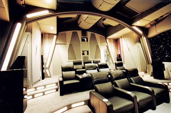 Star Wars-inspired home theater setup makes movie-time ...