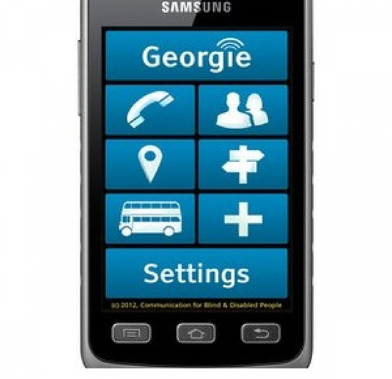 Georgie the smartphone makes communication for the ...