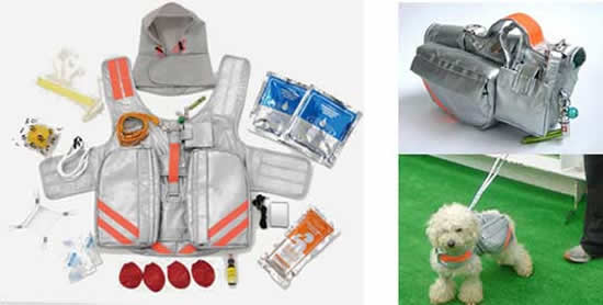 pet evacuation jacket japan 2
