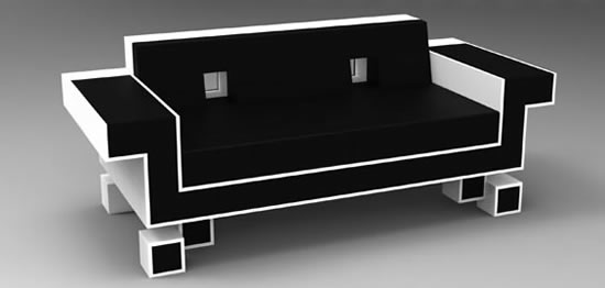 retro alien couch space invaders 2. Black Bedroom Furniture Sets. Home Design Ideas