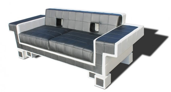 retro alien couch space invaders