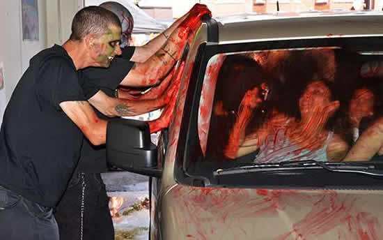 zombies washing car 1