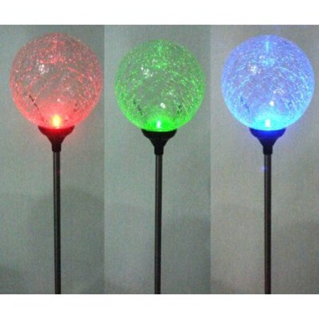 solar garden light globes change color and portray your mood. Black Bedroom Furniture Sets. Home Design Ideas