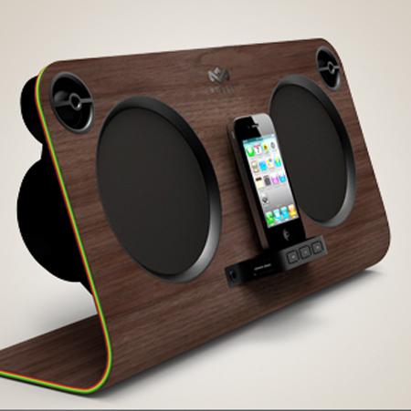 bob marley headphones and docking station is for true reggae home boys. Black Bedroom Furniture Sets. Home Design Ideas
