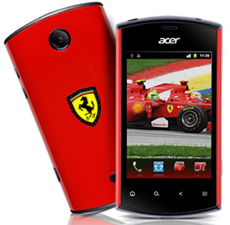 Acer Liquid Mini Ferrari Edition handset 1