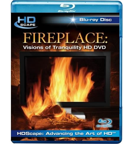 hdscape fireplace a bluray dvd that turns your flat