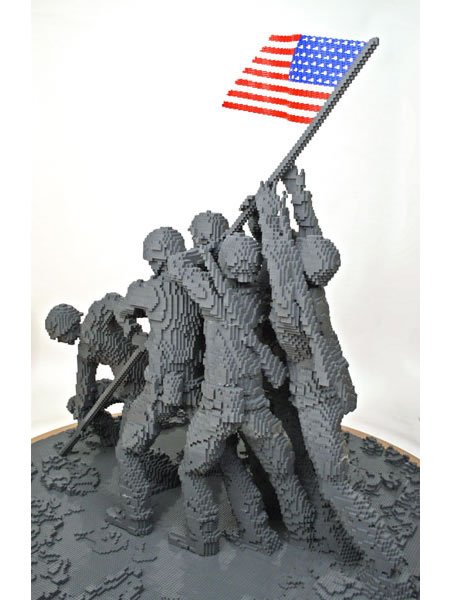 Iwo Jima Replica Made From Lego