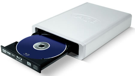 LaCie d2 external BluRay drive