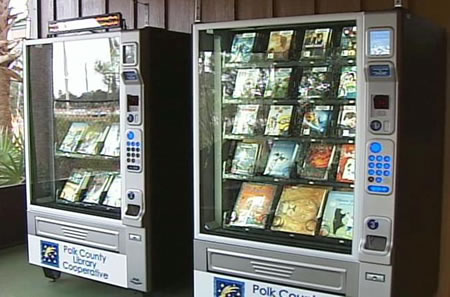 Polk County Library Vending Machine 1