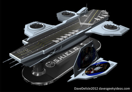 SHEILD Hellicarrier shaped concept Blu ray case 2 thumb 450x314