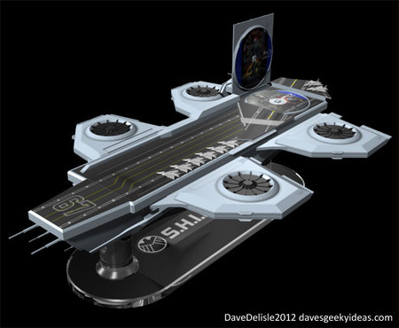 SHEILD Hellicarrier shaped concept Blu ray case 4 thumb 450x370