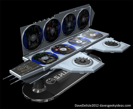 SHEILD Hellicarrier shaped concept Blu ray case 6 thumb 450x370