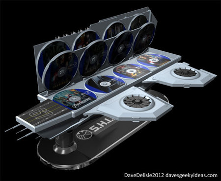 SHEILD Hellicarrier shaped concept Blu ray case 7 thumb 450x370