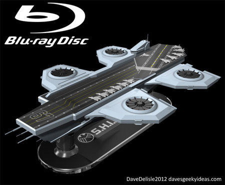 SHEILD Hellicarrier shaped concept Blu ray case 8 thumb 450x370