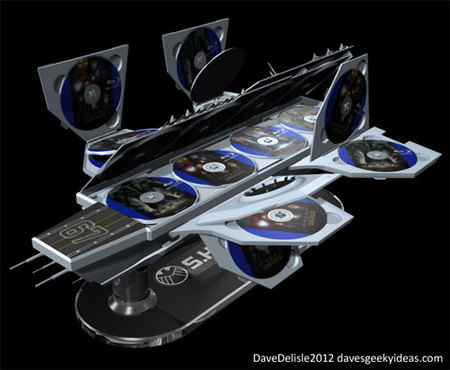 SHEILD Hellicarrier shaped concept Blu ray case thumb 450x370