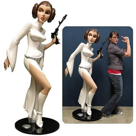 Star Wars Animated Life Size Princess Leia Monument