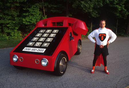 1975 Volkswagen Beetle converted to a Phone Car