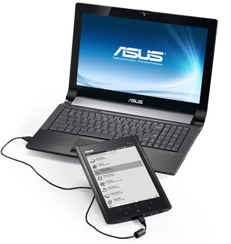 asus eee note connected