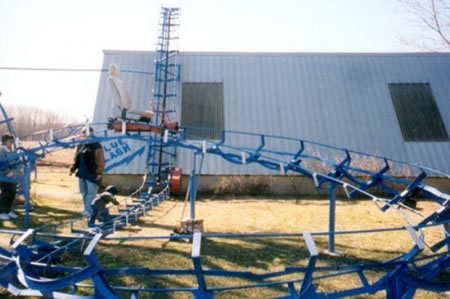 blue flash roller coaster 2
