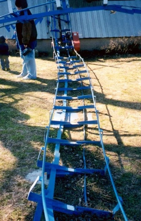 blue flash roller coaster 3