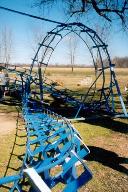 blue flash roller coaster 6