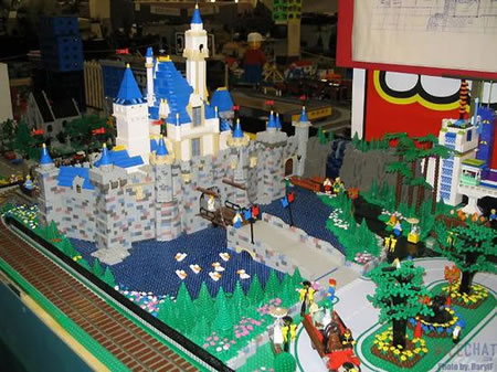 Disneyland Made Out Of Lego Bricks