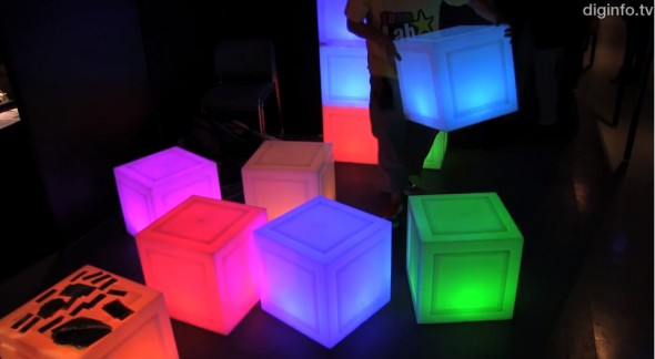 Media Block Chair – Multipurpose illuminated and interactive cubes