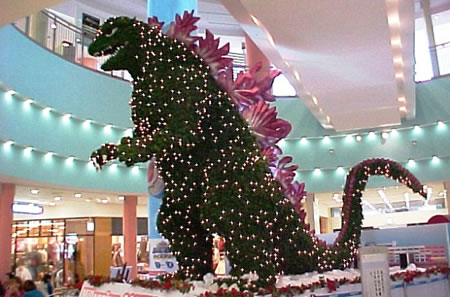 godzilla christmas tree