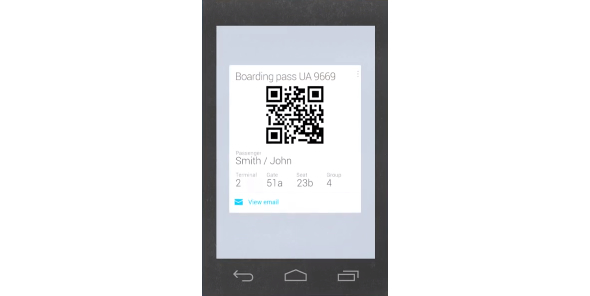 google boarding pass