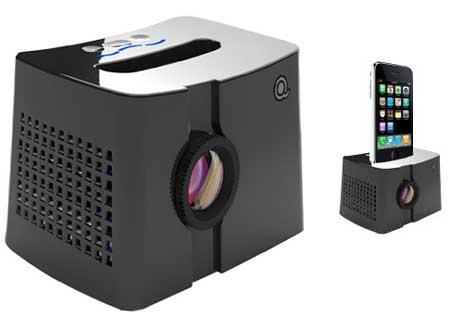 Honlai qingbar mp101 iphone ipod projector dock for Ipod projector