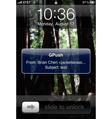 how to get push gmail on iphone