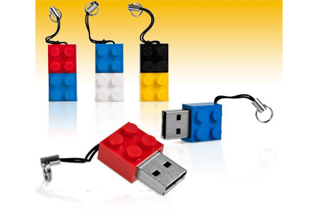 iBlock Memory Stick Lego brick USB drives to build your own towers ...