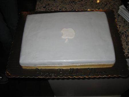 Apple Macbook Pro birthday cake