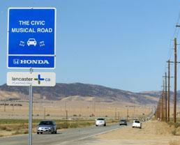 Lancaster ca has a musical highway for honda civics for Lancaster ca honda
